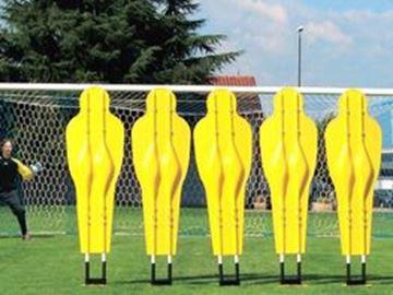 Afbeelding van Vrijschopmuur: set 5 PVC figuren op kunststofvering