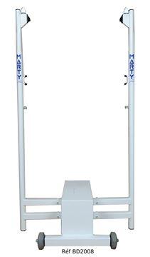 Afbeelding van Badmintonpaal - dubbel centraal