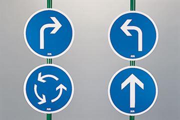 Afbeelding van verkeersborden 'pijlen' - set/4