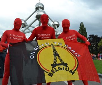 """Afbeelding van Supportersvlag België """"Road To Paris"""""""