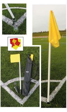 Afbeelding van conrnervlag rood