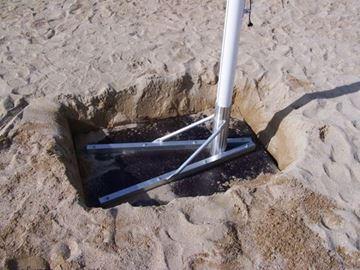 Afbeelding van grondanker voor beachvolley-palen