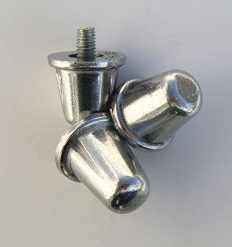 Afbeelding van studs - konisch- alu - zakje van 100 - 21mm