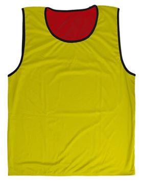 Afbeelding van rugbyhesje - omkeerbaar - XS/S - rood/geel