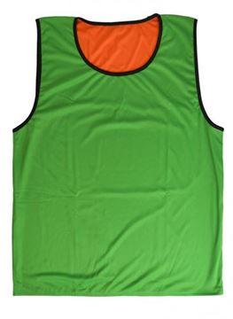 Afbeelding van rugbyhesje - omkeerbaar - M/L - oranje/groen