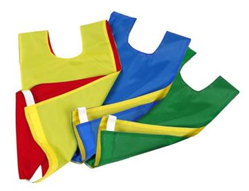 Afbeelding van overgooier nylon - omkeerbaar - L - geel/groen