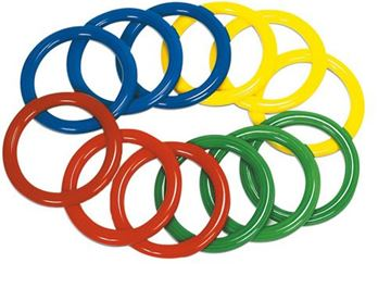 Afbeelding van werpring PVC - groen