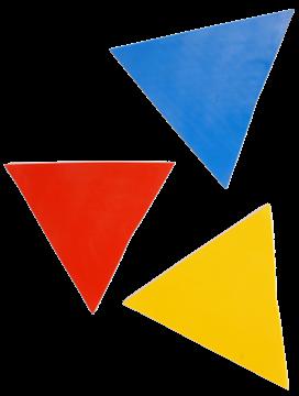 Afbeelding van driehoek - rubber - rood