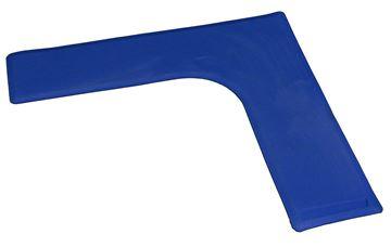 Afbeelding van hoek - rubber - 27/27cm - blauw