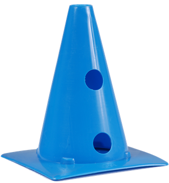 Afbeelding van kegel met gaten SEA - 20cm/4gaten - blauw