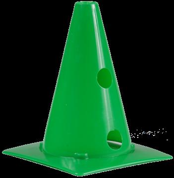 Afbeelding van kegel met gaten SEA - 20cm/4gaten - groen